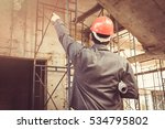young business man construction ... | Shutterstock . vector #534795802