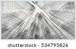 perspective 3d render of... | Shutterstock .eps vector #534795826