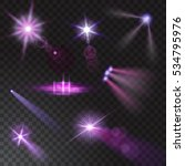 realistic beam lights set on... | Shutterstock .eps vector #534795976