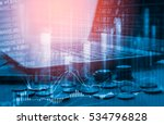 stock market or forex trading... | Shutterstock . vector #534796828