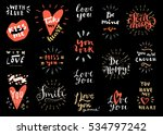 set of valentine's day vintage... | Shutterstock .eps vector #534797242
