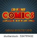 yellow red high detail comic... | Shutterstock .eps vector #534799432