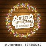 fairy lights for festive... | Shutterstock .eps vector #534800362