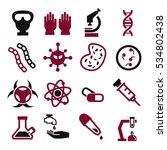 biohazard  toxic icon set | Shutterstock .eps vector #534802438