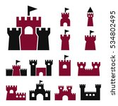 castle icon set | Shutterstock .eps vector #534802495