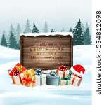 holiday christmas background... | Shutterstock .eps vector #534812098