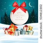 christmas presents with a gift... | Shutterstock .eps vector #534812302