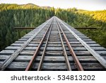 an abandoned railway bridge in... | Shutterstock . vector #534813202