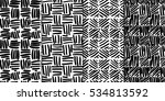 abstract seamless pattern set... | Shutterstock .eps vector #534813592