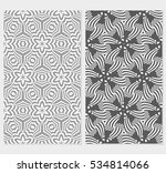 geometric floral ornament. grey ... | Shutterstock .eps vector #534814066