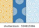 set of modern floral seamless... | Shutterstock .eps vector #534815386