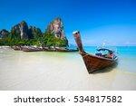 railay beach  tropical beach... | Shutterstock . vector #534817582