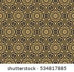 black floral creative geometric ...   Shutterstock .eps vector #534817885