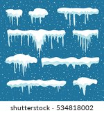 set of cartoon snow design... | Shutterstock .eps vector #534818002