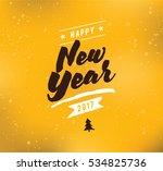 happy new year 2017 text design.... | Shutterstock .eps vector #534825736