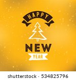 happy new year 2017 text design.... | Shutterstock .eps vector #534825796