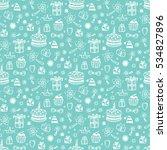 birthday seamless pattern. hand ... | Shutterstock .eps vector #534827896