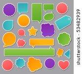 vector set of paper stickers | Shutterstock .eps vector #53482939