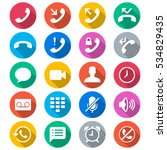 telephone flat color icons | Shutterstock .eps vector #534829435