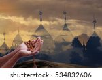 blurred background mosque... | Shutterstock . vector #534832606