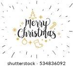 merry christmas text design.... | Shutterstock .eps vector #534836092