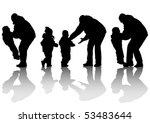 vector image of father and... | Shutterstock .eps vector #53483644
