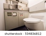 airplane toilet | Shutterstock . vector #534836812
