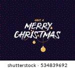 merry christmas text design.... | Shutterstock .eps vector #534839692