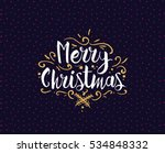 merry christmas text design.... | Shutterstock .eps vector #534848332