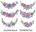 vector graphic set with... | Shutterstock .eps vector #534856762