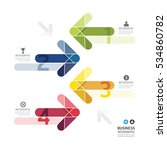modern design color arrows... | Shutterstock .eps vector #534860782
