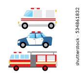 rescue vehicles a set of 3...   Shutterstock .eps vector #534861832