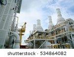 offshore construction platform... | Shutterstock . vector #534864082