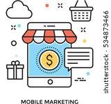 mobile marketing vector icon | Shutterstock .eps vector #534873466