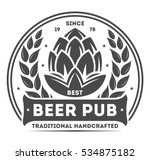 beer pub vintage isolated label ... | Shutterstock .eps vector #534875182