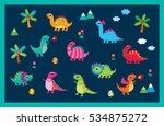 cute dinosaur vector collection | Shutterstock .eps vector #534875272
