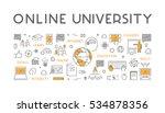vector line concept for online... | Shutterstock .eps vector #534878356