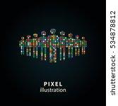 people   pixel icon. vector... | Shutterstock .eps vector #534878812