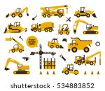 big set of icons construction... | Shutterstock .eps vector #534883852