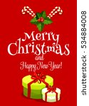 christmas day greeting card... | Shutterstock . vector #534884008