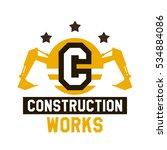 logo of construction work. the... | Shutterstock .eps vector #534884086
