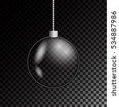 glass christmas ball. stock... | Shutterstock .eps vector #534887986
