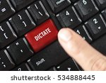 dictate word on red keyboard... | Shutterstock . vector #534888445