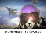 jet fighter pilot cockpit view... | Shutterstock . vector #534892618