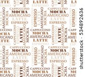 seamless pattern with text....   Shutterstock .eps vector #534892636