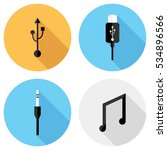 usb and phone connector icons...