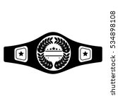 boxing belt isolated icon   Shutterstock .eps vector #534898108