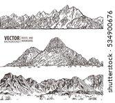 mountains ranges. set. nature... | Shutterstock .eps vector #534900676