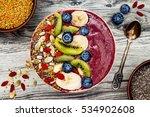 acai breakfast superfoods... | Shutterstock . vector #534902608
