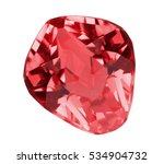 red ruby isolated on white... | Shutterstock . vector #534904732